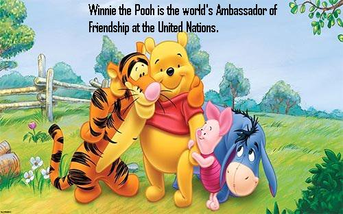 Friendship day, Winnie the Pooh, world's ambassador of friendship