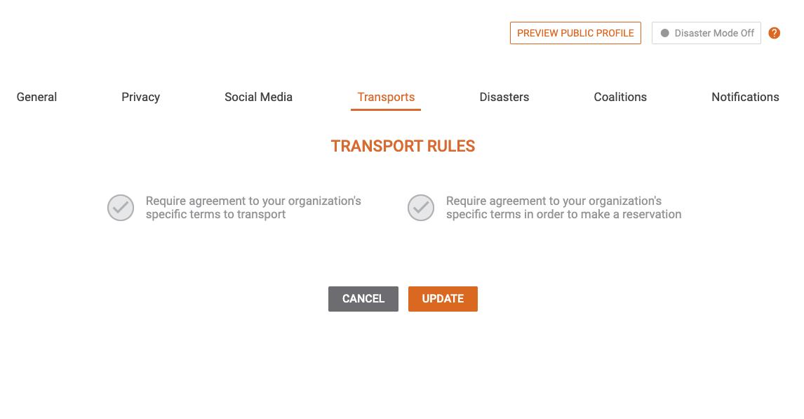BONUS: Volunteer Transport Rules